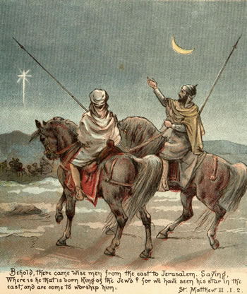 Wisemen see the star